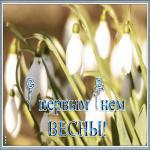 Открытка нежная открытка с первым днем весны