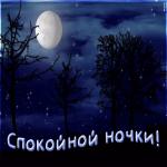 Открытка спокойной ночки