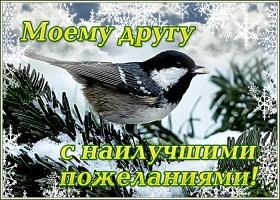 Открытка чудесная зимняя открытка другу