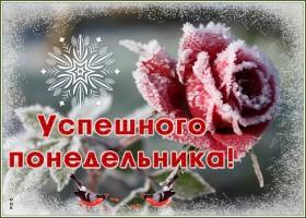Открытка картинка доброго зимнего понедельника
