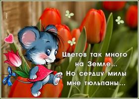 Картинка открытка с цветами и красивыми словами